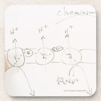 Chemistry on dry-erase board drink coaster