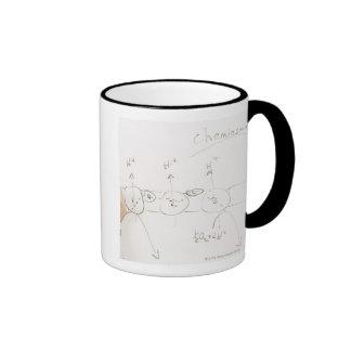 Chemistry on dry-erase board ringer coffee mug