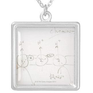 Chemistry on dry-erase board jewelry