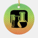 Chemistry Double-Sided Ceramic Round Christmas Ornament