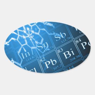 Chemistry Oval Sticker