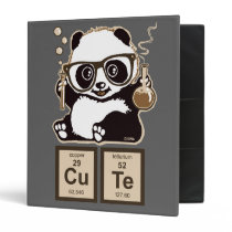 Chemistry panda discovered cute 3 ring binder