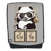 Chemistry panda discovered cute backpack