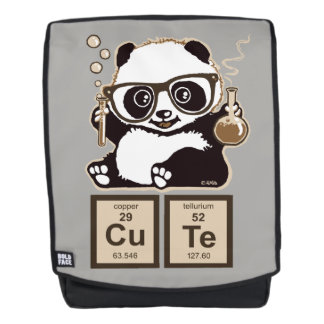 Chemistry panda discovered cute backpack
