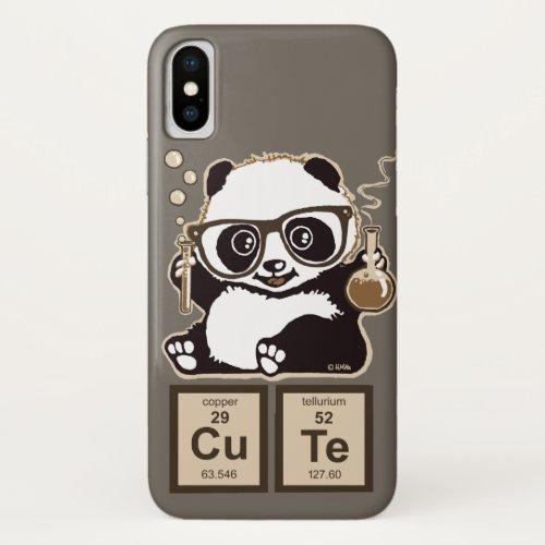 Chemistry panda discovered cute iPhone XS case