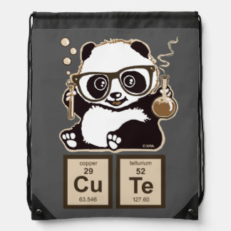Chemistry panda discovered cute drawstring backpack