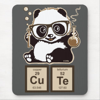 Chemistry panda discovered cute mouse pad