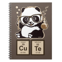 Chemistry panda discovered cute notebook