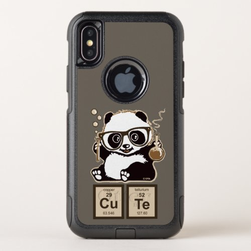 Chemistry panda discovered cute OtterBox commuter iPhone XS case