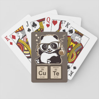 Chemistry panda discovered cute playing cards