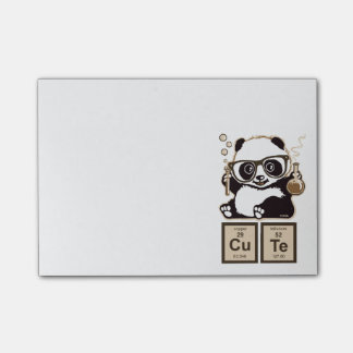 Chemistry panda discovered cute post-it notes