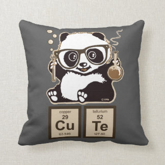 Chemistry panda discovered cute throw pillow