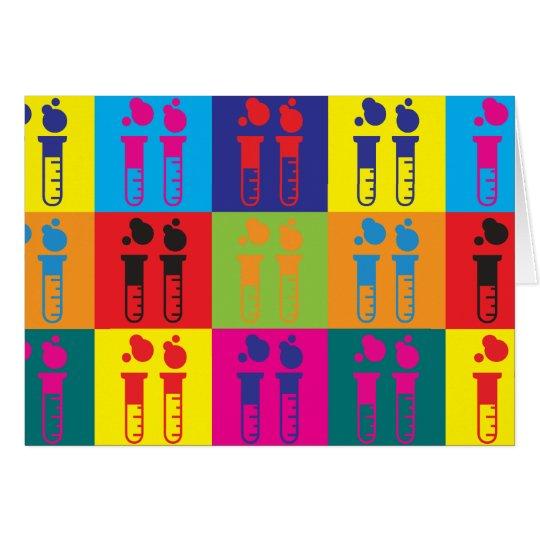 Chemistry Pop Art Card
