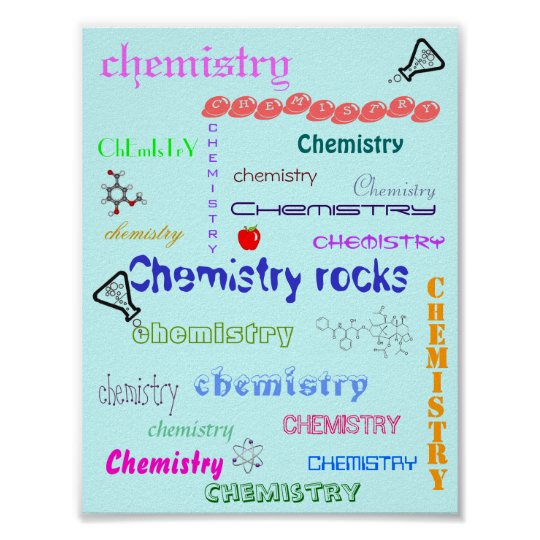 chemistry rocks! poster