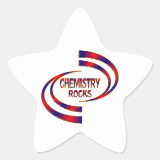 Chemistry Rocks Star Sticker
