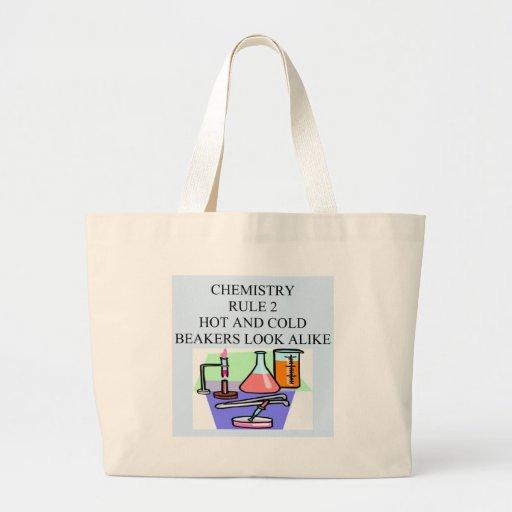 chemistry rule 2 canvas bag