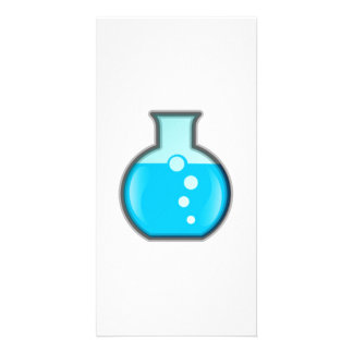 Chemistry Science Beaker Personalized Photo Card
