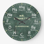 Chemistry Science Chalkboard Personalizable Clock at Zazzle