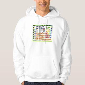 Chemistry, science, periodic table of elements hoodie