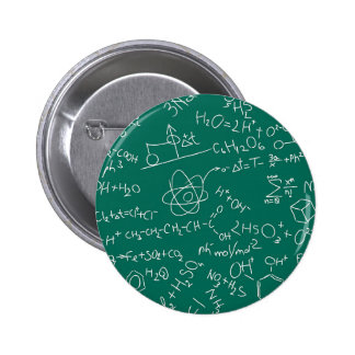 Chemistry scribbles pinback button