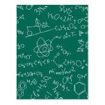 Chemistry scribbles postcard