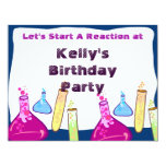 Chemistry Set Party 4.25x5.5 Paper Invitation Card