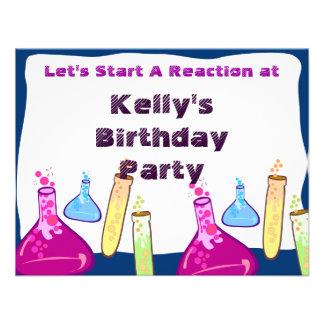 Chemistry Set Party Custom Announcements