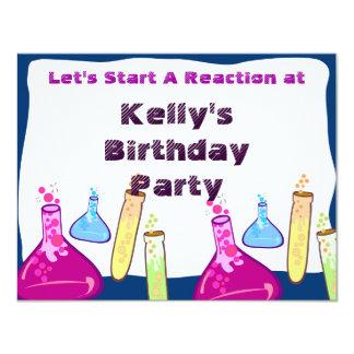 "Chemistry Set Party 4.25"" X 5.5"" Invitation Card"