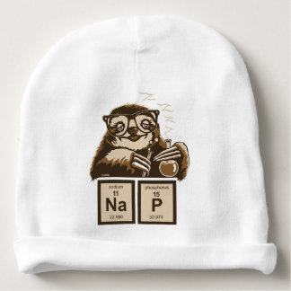 Chemistry sloth discovered nap baby beanie