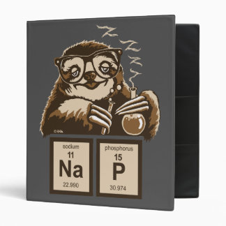 Chemistry sloth discovered nap binder
