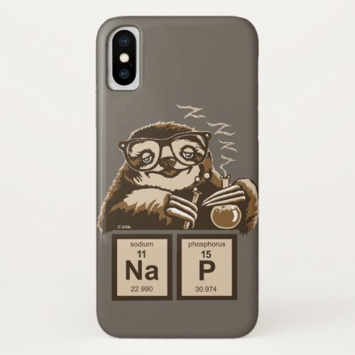 Chemistry sloth discovered nap iPhone XS case