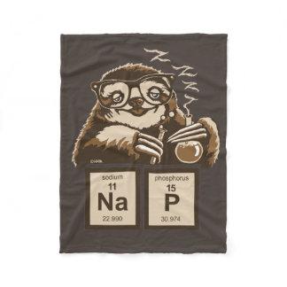 Chemistry sloth discovered nap fleece blanket
