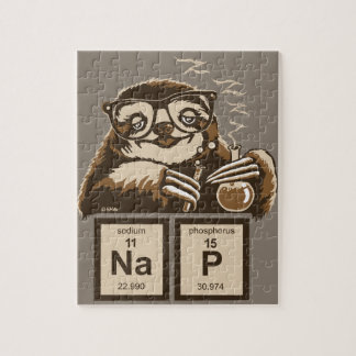Chemistry sloth discovered nap jigsaw puzzle
