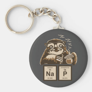 Chemistry sloth discovered nap keychain