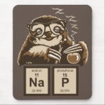 """Chemistry sloth discovered nap mouse pad<br><div class=""""desc"""">Funny chemistry sloth discovered nap</div>"""