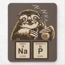 Chemistry sloth discovered nap mouse pad
