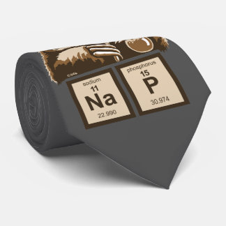 Chemistry sloth discovered nap neck tie