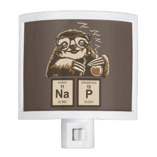 Chemistry sloth discovered nap night light