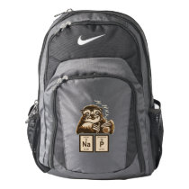 Chemistry sloth discovered nap nike backpack