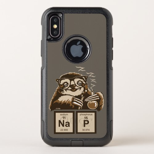 Chemistry sloth discovered nap OtterBox commuter iPhone XS case