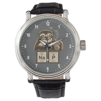 Chemistry sloth discovered nap wristwatch