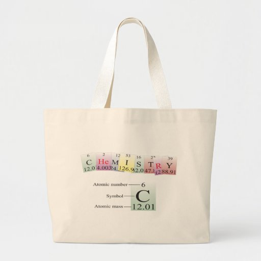 Chemistry Spelled with elements Bag