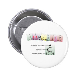 Chemistry Spelled with elements 2 Inch Round Button