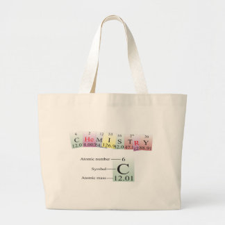 Chemistry Spelled with elements Large Tote Bag
