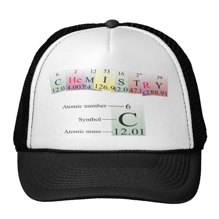 Chemistry Spelled with elements Trucker Hat