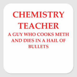 CHEMISTRY SQUARE STICKER
