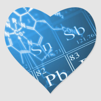 Chemistry Heart Sticker