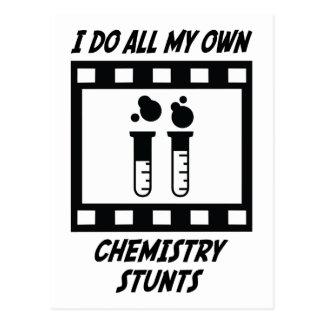 Chemistry Stunts Postcard