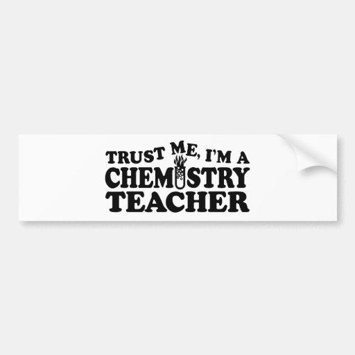 Chemistry Teacher Car Bumper Sticker