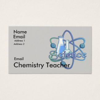 Chemistry Teacher Motto Business Card
